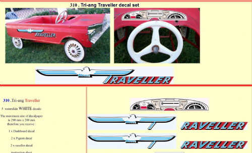 310 Tri-ang Traveller decal set